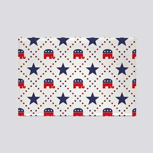 Republican Diamond Patt Rectangle Magnet (10 pack)